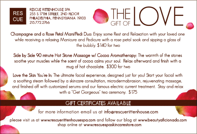 Valentineu0027s Day Specials At Rescue Rittenhouse Spa. *We ...