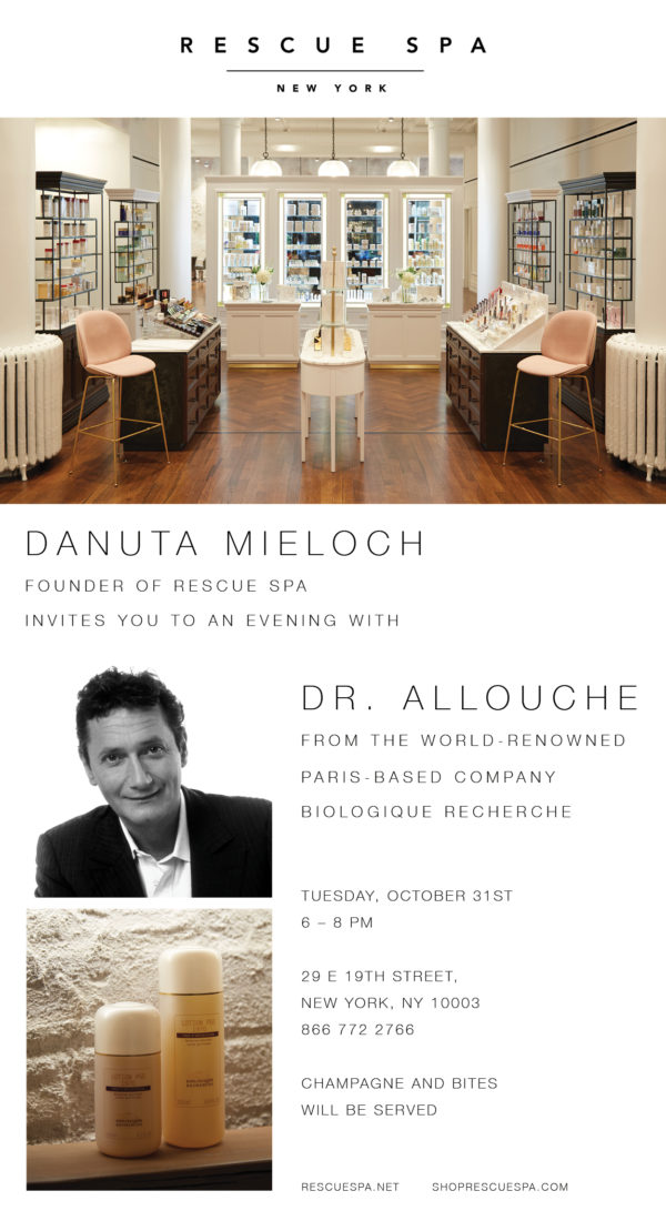 Rescue Spa NYC Event: Meet Dr  Allouche of Biologique